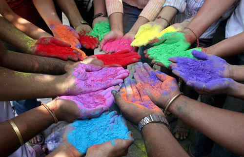Holi Hands  Celebrating all that is and all that is diverse.