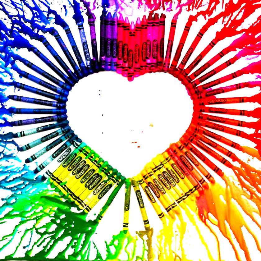 Melting Crayon Heart