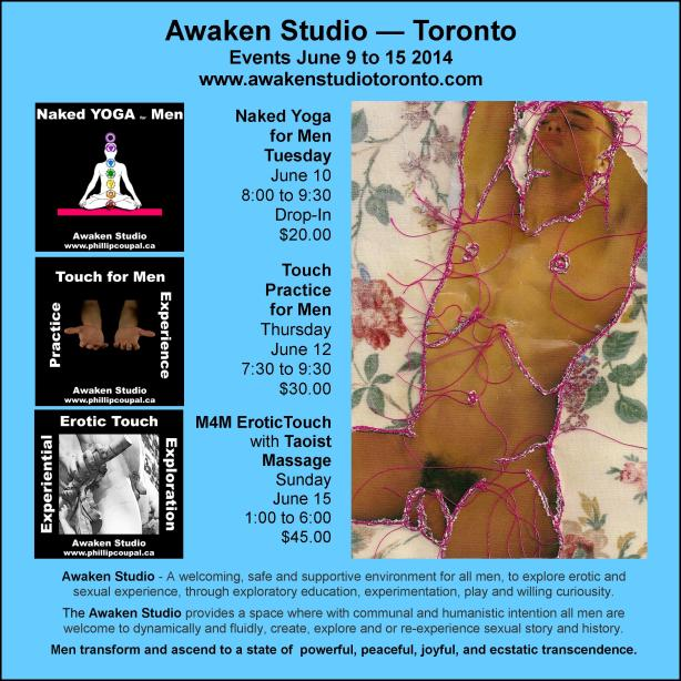 Events for Men at the Awaken Studio Toronto www.awakenstudiotoronto.com