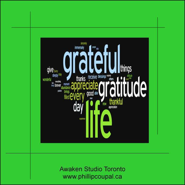 Gratitude Day 6 at the Awaken Studio Toronto http://www.awakenstudiotoronto.com