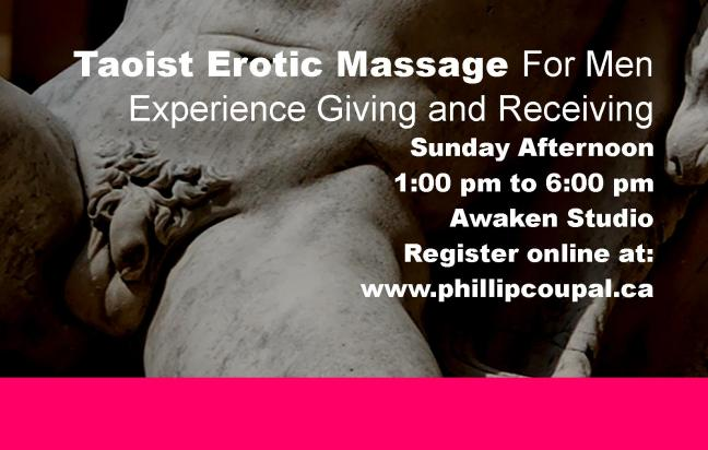 Men 4 Men Touch Exchange - Erotic Touch with Taoist Massage Awaken Studio Toronto