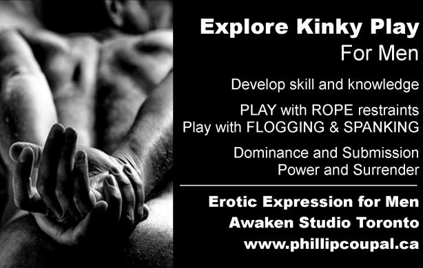 Explore Kinky PLAY and BDSM practice at the Awaken Studio Toronto www.phillipcoupal.ca