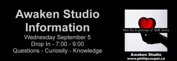 Awaken Studio Toronto -♥- Living life with a JUICY HEART -♥- September 2018 Events www.phillipcoupal.ca